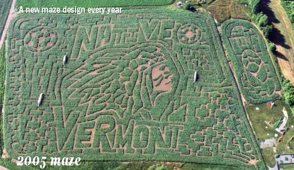 vermont corn maze, a great fall foliage activity for the whole family