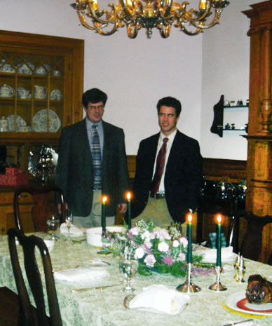Dining room at the Governor's House for a birthday celebration special package