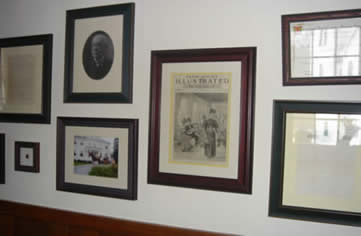 some of the historic documents circa 1893 at The Governor's House in Hyde Park