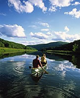 photo of canoeing in the Green Mountains of Vermont