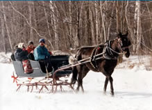 Sleigh rides near the Governor's House, a cozy Vermont country inn
