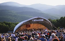 photo of concert in the Green Mountains, Stowe, Vermont