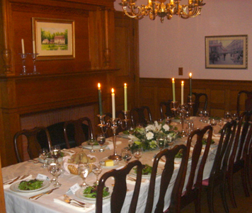 a private dinner at The Governor's House, a Vermont country inn near Stowe, VT