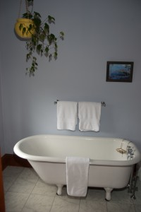 antique claw-foot bathtub