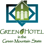 Green Hotel in the Green Mountain State logo