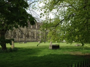 churchyard of Winchester Cathedral