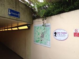 sign: Jane Austen Trail