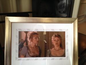 two women dressed for a Regency ball