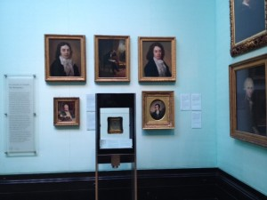 portraits hanging